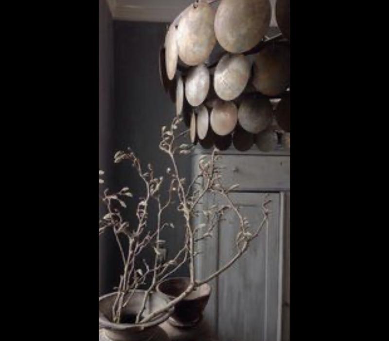 Metalen roestige schijfjes hanglamp - maat L