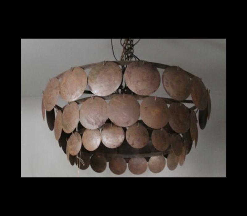 Metalen roestige schijfjes hanglamp|M