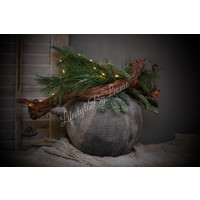 Sobere kerstbal Onion Old grey