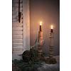 LifestyleByLeonie Houten baluster kandelaar Dark wood 30 cm