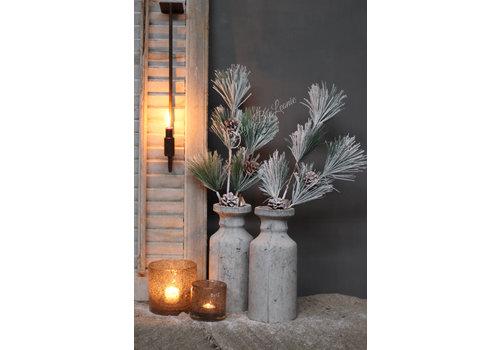LifestyleByLeonie Pinus kunst kersttak met dennenappel 70 cm