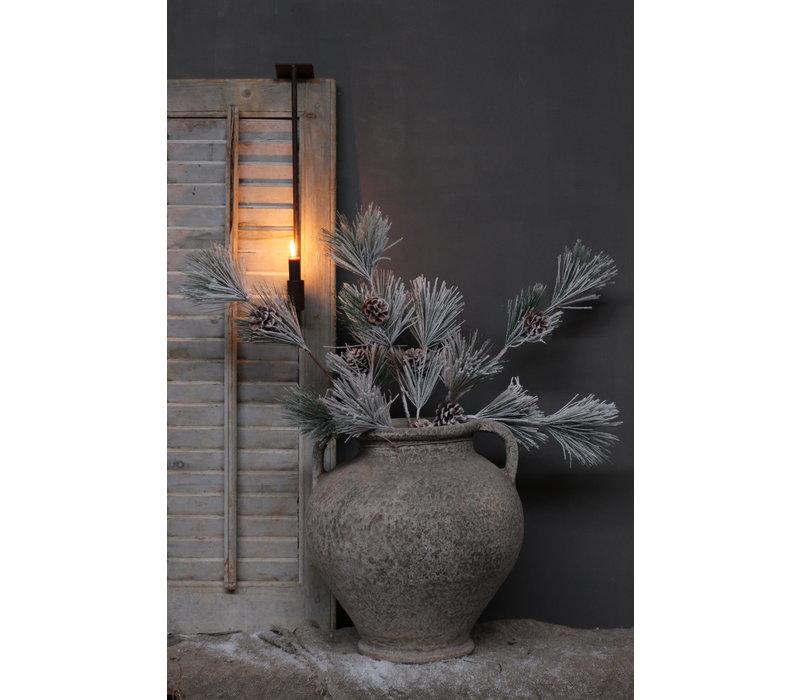 Pinus kunst kersttak met dennenappel 70 cm