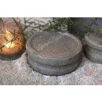 Stenen poer / kandelaar Lava 16 cm