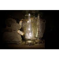 Hoge glazen kerstboom met led|30cm