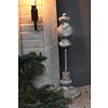 Sober grijs ornament op statief 40 cm