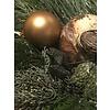 Glazen kerstbal old gold Mat