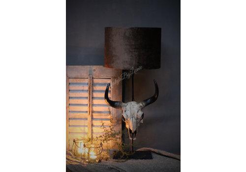 LifestyleByLeonie Grote lampvoet met skull Black 55 cm