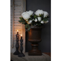 Grote Franse pot Roest 44 cm