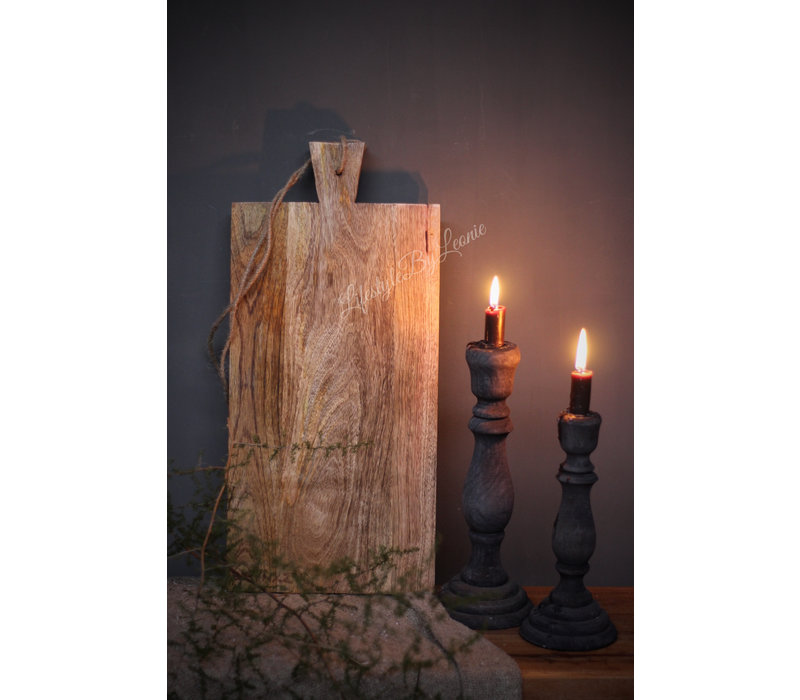 Brynxz grote houten tapasplank / snijplank 50 cm