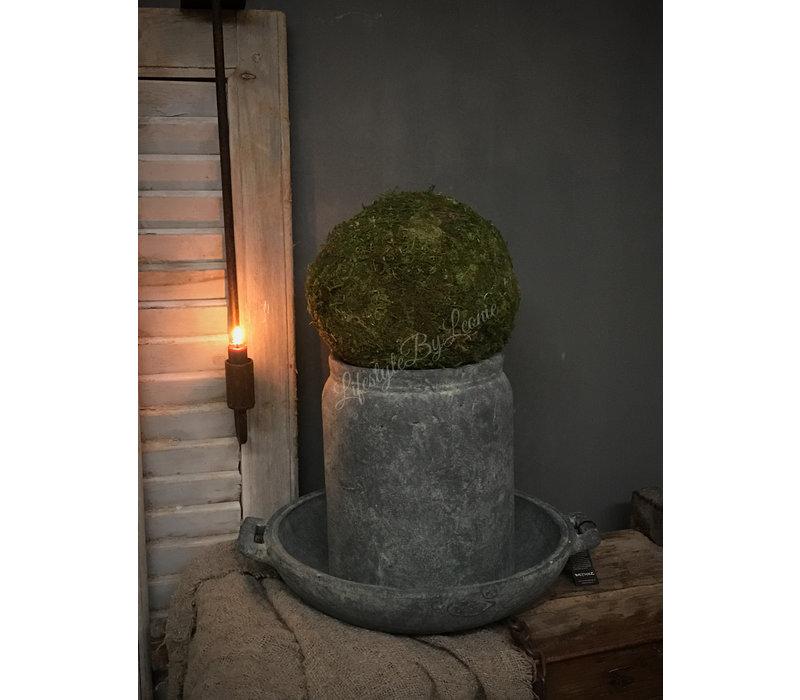 Brynxz Majestic grote stenen schaal met oren 40 cm