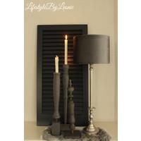 Nikkel lampvoet Raw 45 cm