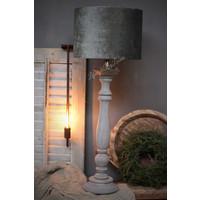 Cilinder lampenkap velvet antraciet 30 cm