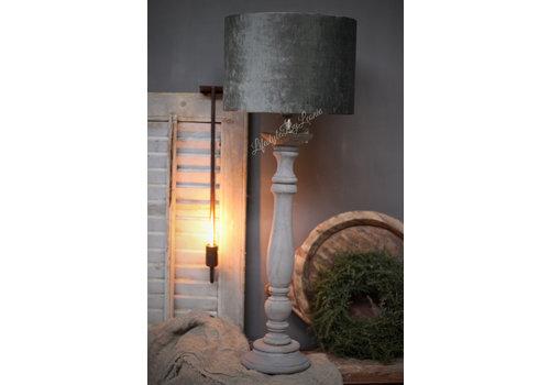 LifestyleByLeonie Cilinder lampenkap velvet antraciet 30 cm