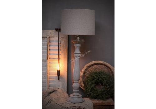 Cilinder lampenkap Taupe lever 30 cm