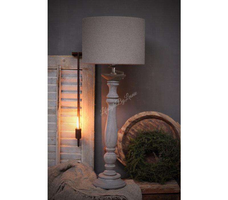 Cilinder lampenkap lever/taupe 30 cm