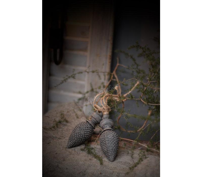 Ornament houten klos/dennenappel