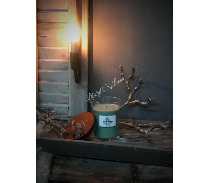 WoodWick White willow moss medium
