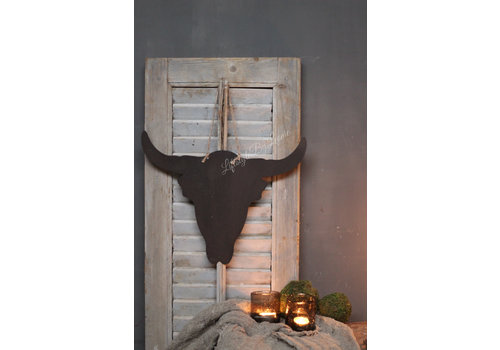 LifestyleByLeonie Zinken Bull head 40 cm