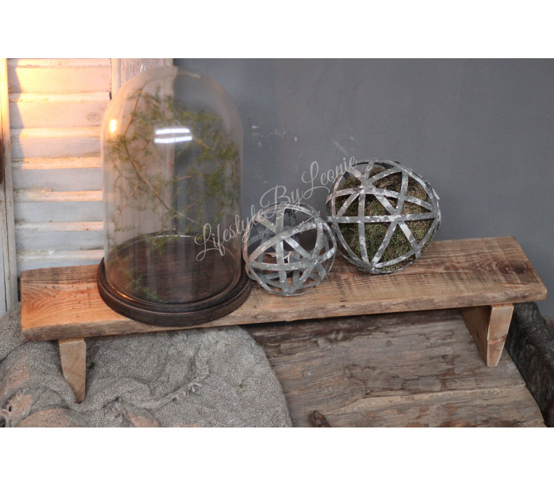 Old look vensterbank krukje / tray 58 cm