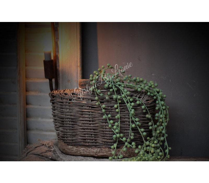 Groene namaak erwt plant hangend 85 cm