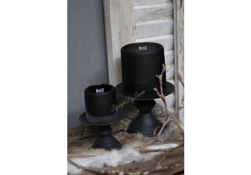 Dutz DUTZ cilinder windlicht smoke-black 7 cm