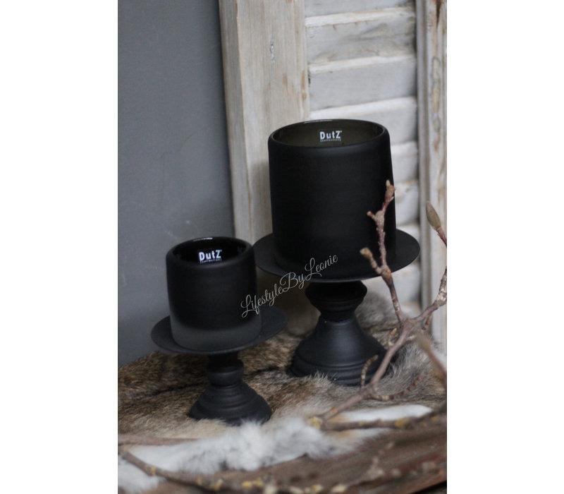 DUTZ cilinder windlicht smoke-black 7 cm
