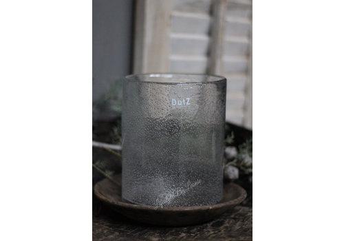 Dutz DUTZ cilinder windlicht met bubbels helder 19 cm