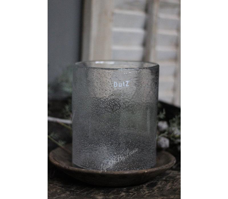 DUTZ cilinder windlicht met bubbels helder 19 cm