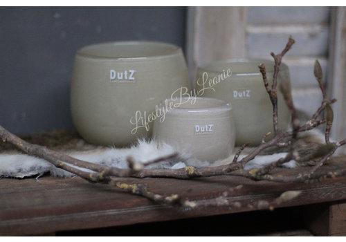 Dutz DUTZ round windlicht beige 10 cm