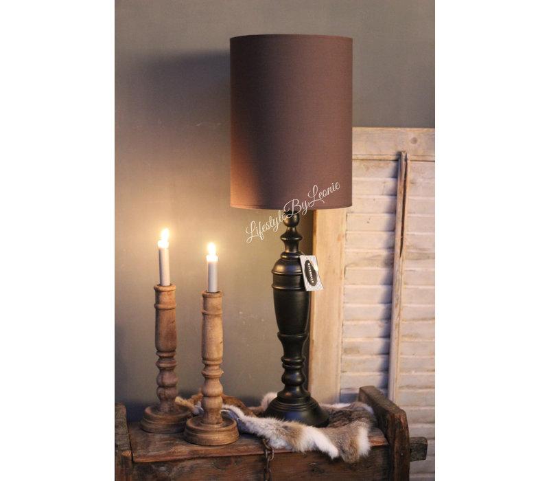 Hoge cilinder lampenkap chocolat 35 cm