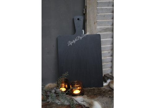 LifestyleByLeonie Zwarte snijplank / tray vierkant 44 cm