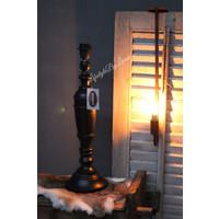 Zwarte baluster lampvoet Riverdale 52 cm