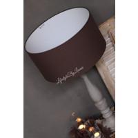 Cilinder lampenkap chocolat 45 cm