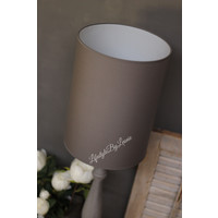 Cilinder tube lampenkap antraciet 39 cm