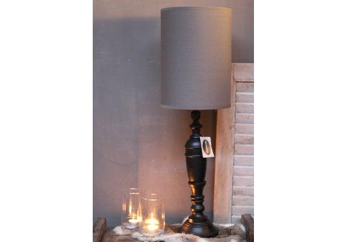 LifestyleByLeonie Cilinder tube lampenkap antraciet 34 cm