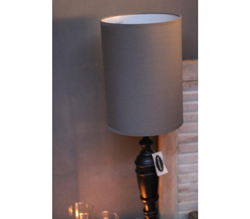 Cilinder tube lampenkap antraciet 34 cm