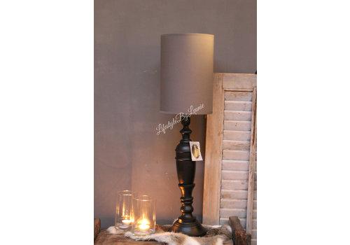 LifestyleByLeonie Cilinder tube lampenkap antraciet 29 cm