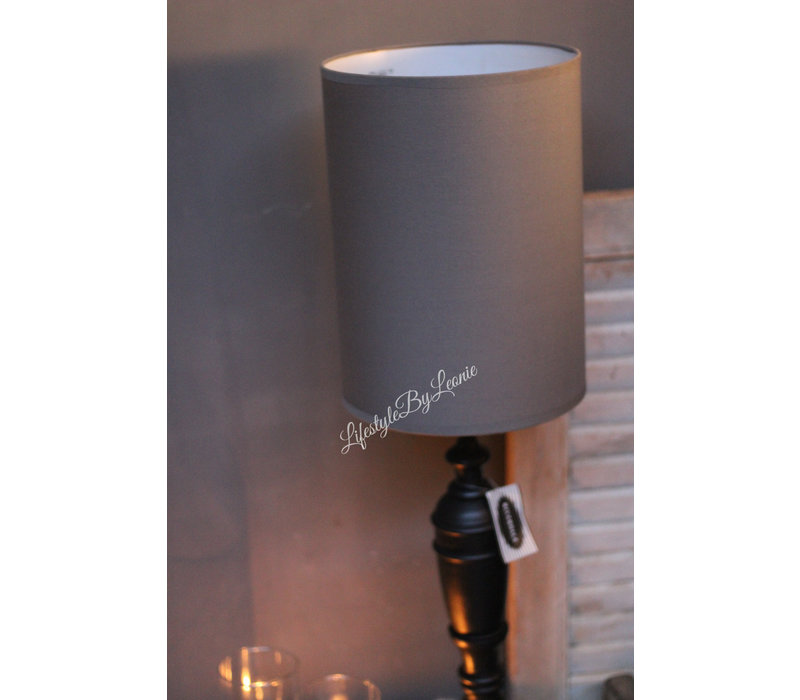 Cilinder tube lampenkap Antraciet 29 cm