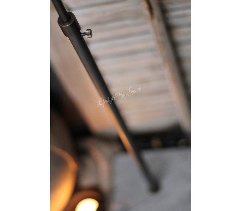 Verstelbare tafellamp met hardstenen voet
