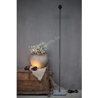 Vloerlamp recht hardstenen voet 120 cm