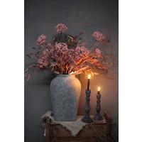 Brynxz zijden Eucalyptus tak pink/creme 87 cm