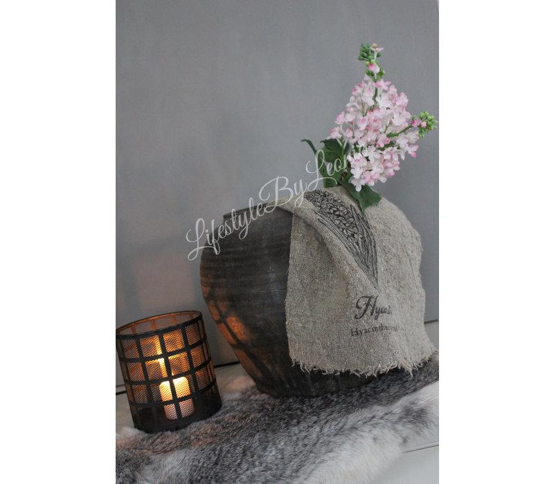 Shabby linnen doek Hyacinth