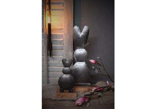 LifestyleByLeonie Ijzeren konijn op blokvoet|25cm