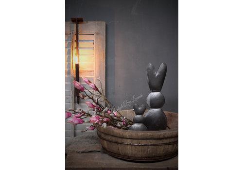 LifestyleByLeonie Ijzeren konijn op blokvoet|45cm