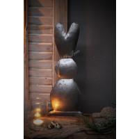 IJzeren konijn op blokvoet 45 cm