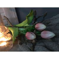 Lichtroze kunst tulp in knop 38 cm