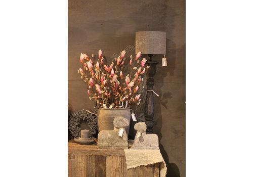 Zijden Magnoliatak in knop light pink
