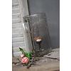 LifestyleByLeonie Cilinder windlicht round Edge bubbels 31 cm