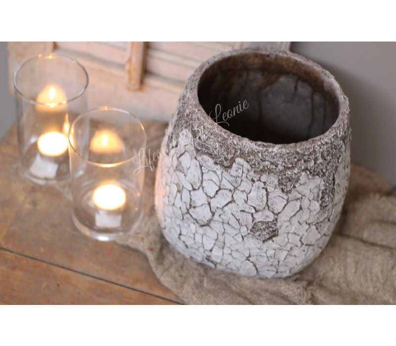 Pot Cracle old brown/white 23 cm
