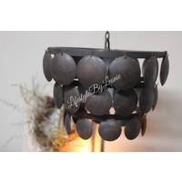 Metalen Old black schijfjeslamp - maat M